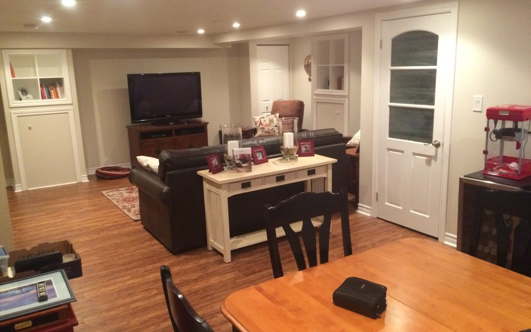 New basement space for kids and entertaining